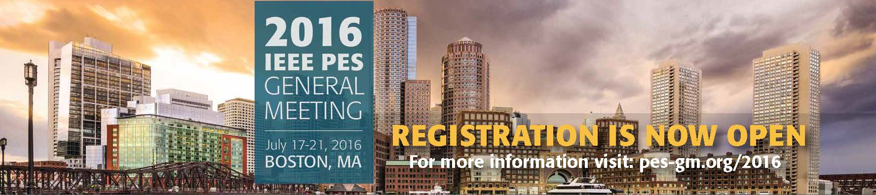2016 IEEE PES General Meeting Registration Now Open!