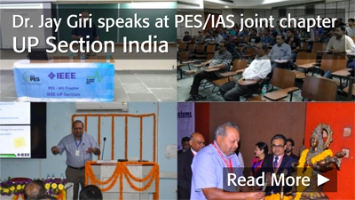 Dr. Jay Giri speaks at PES/IAS joint chapter UP Section India