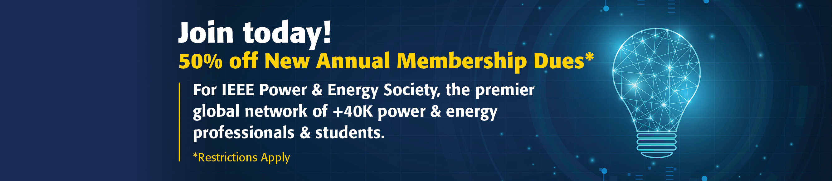 50 percent off of new annual membership dues