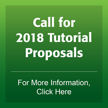 Call for 2018 Tutorial Proposals