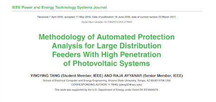 Methodology of Automated Protection Analysis for Large Distribution Feeders With High Penetration of Photovoltaic Systems