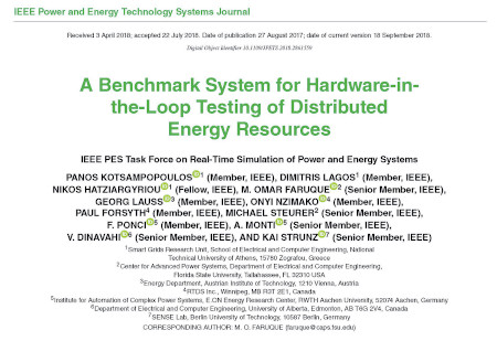 A Benchmark System for Hardware-in-the-Loop Testing of Distributed Energy Resources